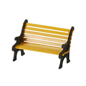 City Wrought Iron Park Bench 4025440