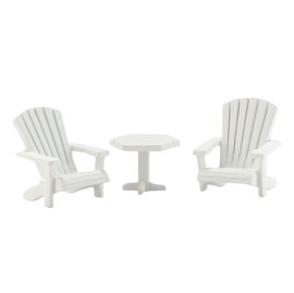 Picket Lane Table & Chairs Set of 3 4025471
