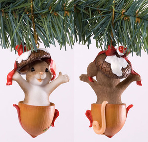 Charming Tails Gone Nutty for Christmas Ornament 4027664