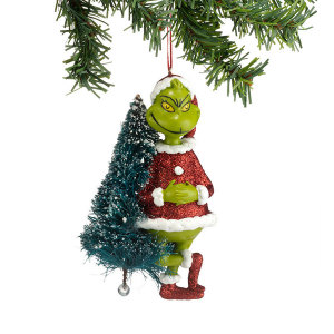 Department 56 Grinch With Sisal Tree Ornament 4030564