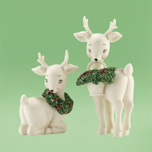 Snowbabies Holly Deer Set of 2 4031913