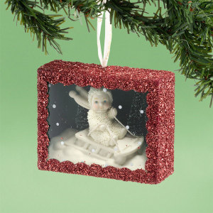 Snowbabies Snowy Sledding Shadow Box Ornament 4031919