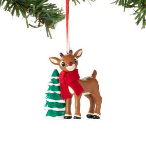 Department 56 Rudolph with Tree Ornament 4033607