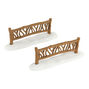 Woodland Fence Set of  2 4033839