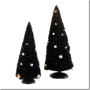 Midnight Sisals Trees Set OF 2 4033853