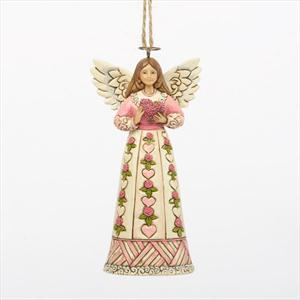 Angel with Rose Heart Ornament 4036696