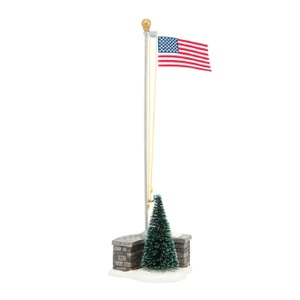 Snow Village Stars And Stripes 4038808