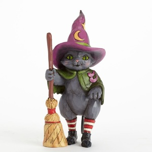 Jim Shore Hocus Pocus Witch Cat With Broom 4041139