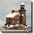Harbour Light Sand Island Wisconsin Ornament 7042
