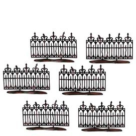 Halloween Spooky Wrought Iron Fence 52982