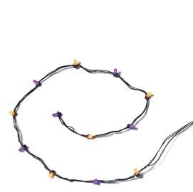 String Of 12 Orange & Purple Lights 53225