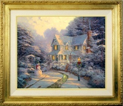 Thomas Kinkade Night Before Christmas 20 x 24 Canvas SN