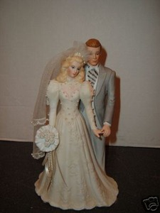 Roman Bride and Groom Cake Topper Top Blonde Musical