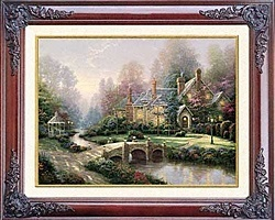 Thomas Kinkade Beyond Spring Gate 12 x 16 Brandy