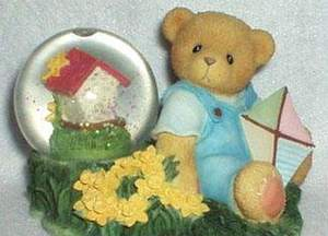 Cherished Teddies Boy with Kite Waterball 684457