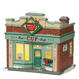 Snow Village Red Cup Cafe 808946