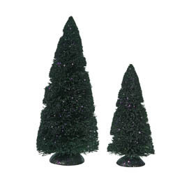 Halloween Purple Glitter Sisal Trees 809455
