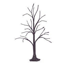 Halloween Purple Glitter Bare Branch Tree 809456