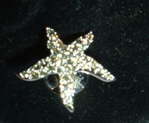 Swarovski Crystal Starfish Event Pin Yellow 901498Y