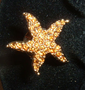 Swarovski Crystal Starfish Event Pin Gold 901498G