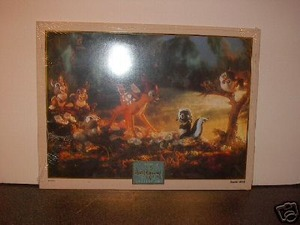 WDCC Disney Bambi and Flower Print Unframed