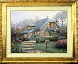 Thomas Kinkade Lilac Cottage 18 x 24 Canvas Framed