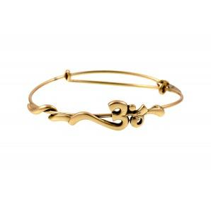 Om Wrap Bangle Rafaelian Gold