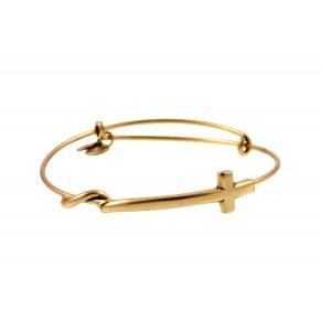 Cross Wrap Bangle Rafaelian Gold