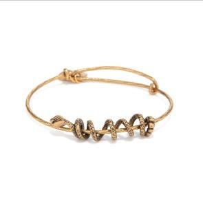 Snake Coil Bangle Rafaelian Gold