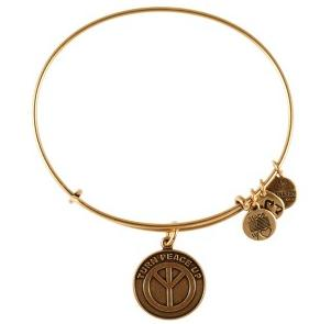 Turn Peace Up Expandable Wire Bangle Rafaelian Gold