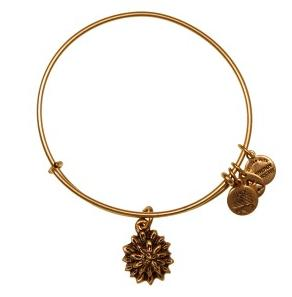 Water Lily Expandable Wire Bangle Rafaelian Gold