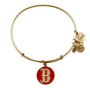 Boston Red Sox Cap Logo Bangle Red Rafaelian Gold