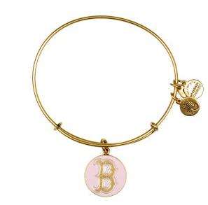 Boston Red Sox Cap Logo Bangle Pink Rafaelian Gold