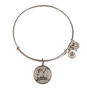 Milwaukee Brewers Cap Logo Bangle Rafaelian Silver