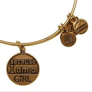 Because I am a Girl Bangle Rafaelian Gold