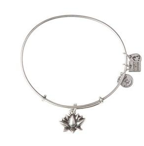 Lotus Blossom Bangle Rafaelian Silver