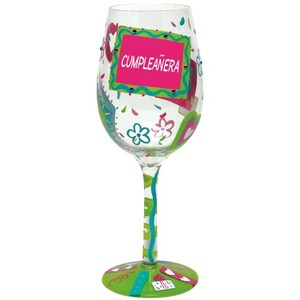 Cumpleanera Wine Glass GLS11-5524G