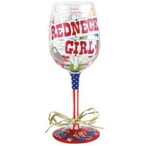 Redneck Girl Wine Glass GLS11-5526D