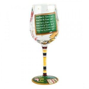 Teachers Time Out  Wine Glass GLS11-5526P