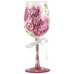 Best Sister Ever Wine Glass GLS11-5533M