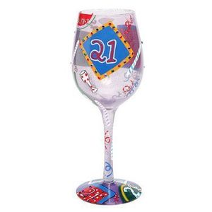 Age 21 Wine Glass GLS11-5590T