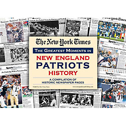 New England Patriots History New York Times Newspaper Compilation
