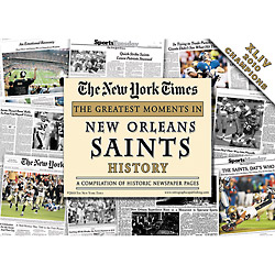 New Orleans Saints History New York Times Newspaper Compilation