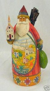 Old World Ornament Santa Head
