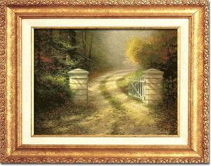 Thomas Kinkade Autumn Gate 12 x 16 Canvas Classic Gold