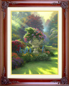 Thomas Kinkade Garden of Hope 18 x 24 SN Canvas Framed