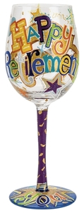 Happy Retirement Wine Glass GLS11-5534H