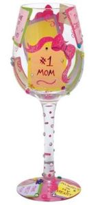 #1 Mom Wine Glass GLS11-5590M