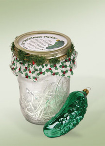 Byers Choice Glass Pickle Ornament GP01