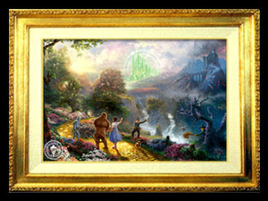 Thomas Kinkade Wizard of Oz Dorothy Discovers Emerald City 18 x 27